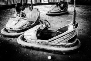 abandoned bumper cars