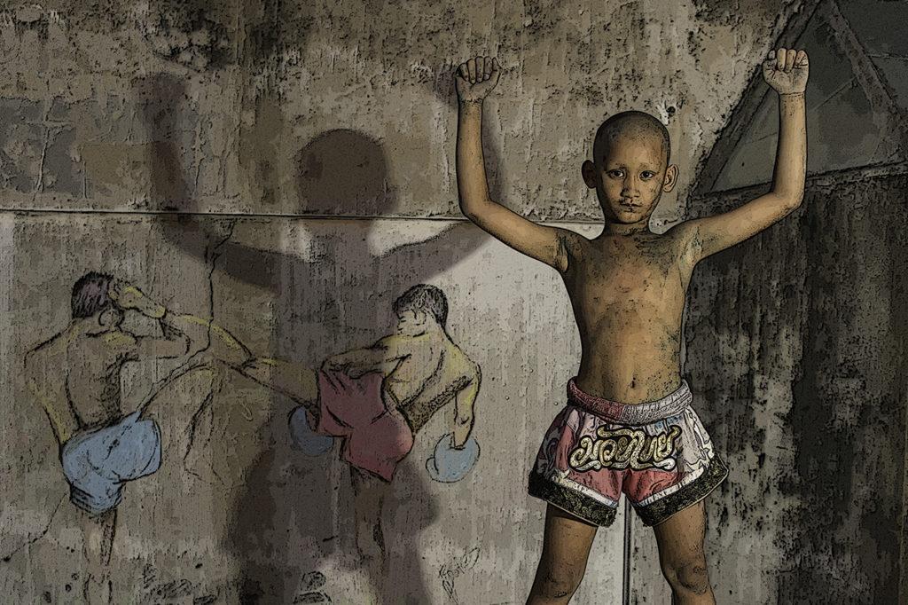 Muay Thai boy shirtless