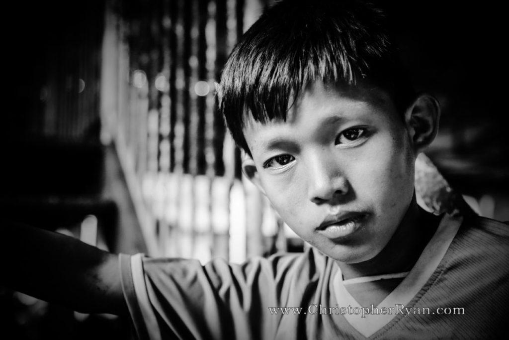 cute young burmese boy