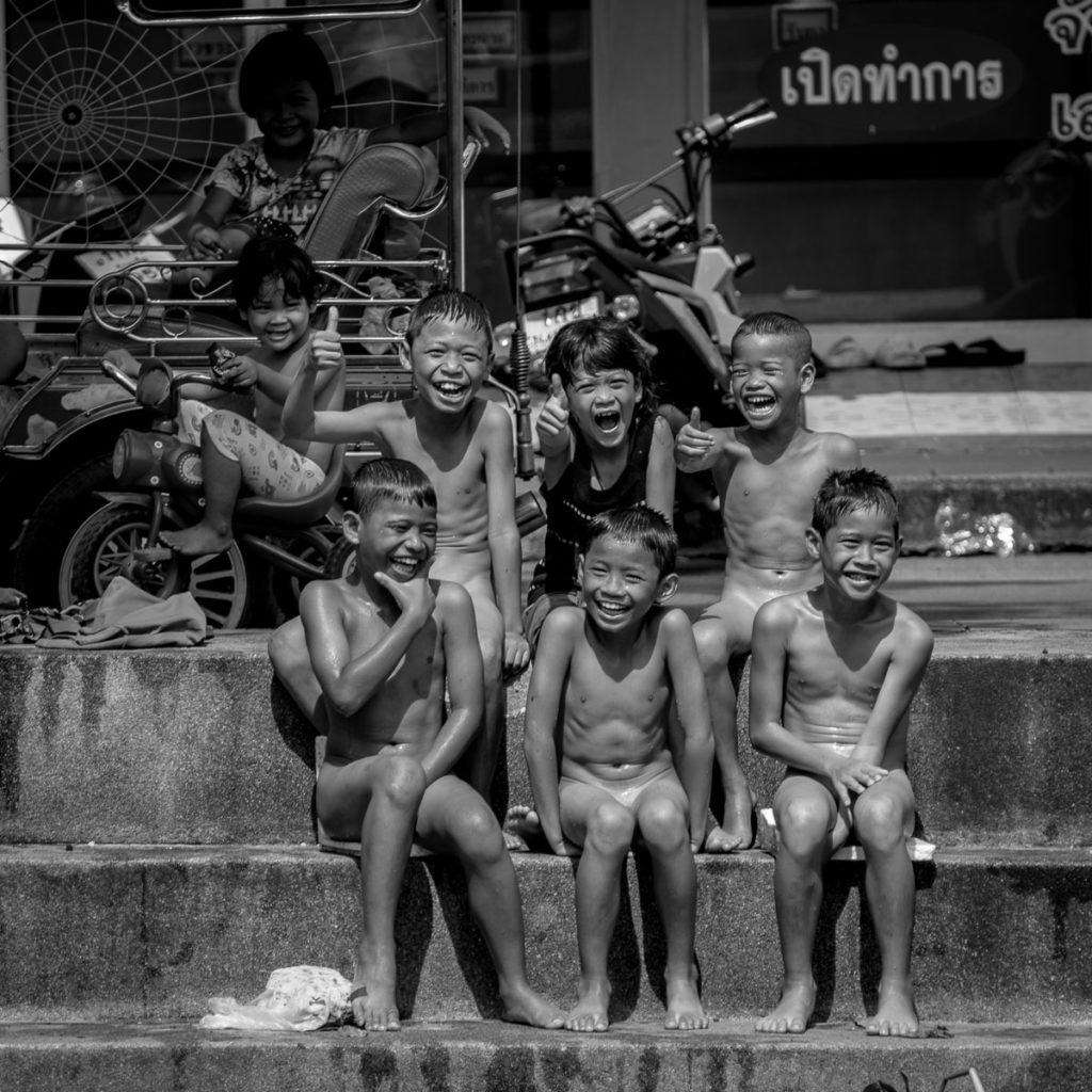 children skinny dipping