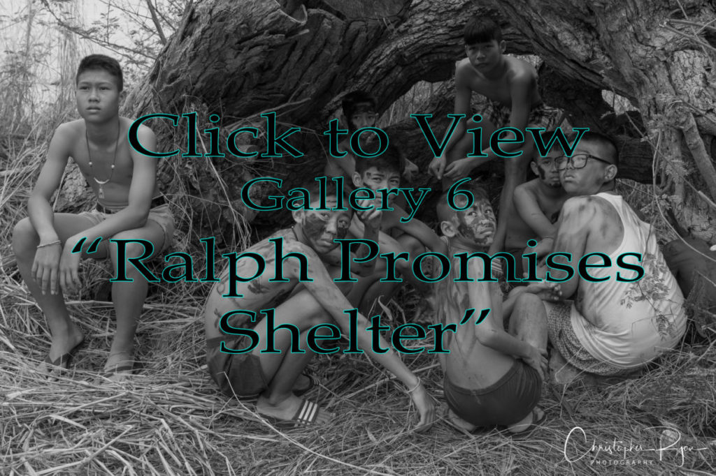 Ralph promises shelter in lord of the flies