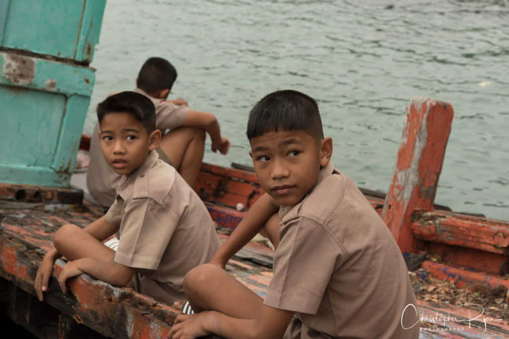 boyscouts with brown uniform