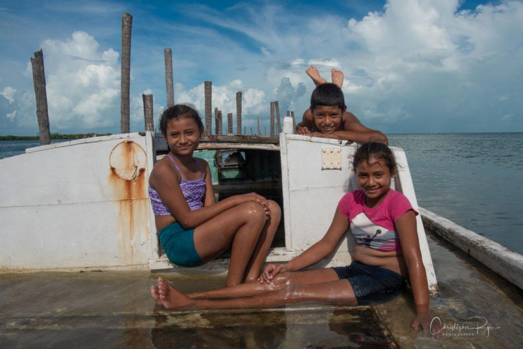 hispanic triplet children two girls and a boy