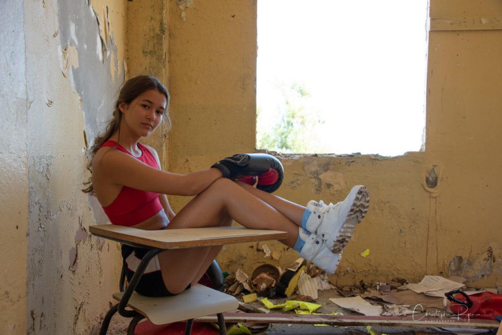 teenage girl fighter in Puerto Rico