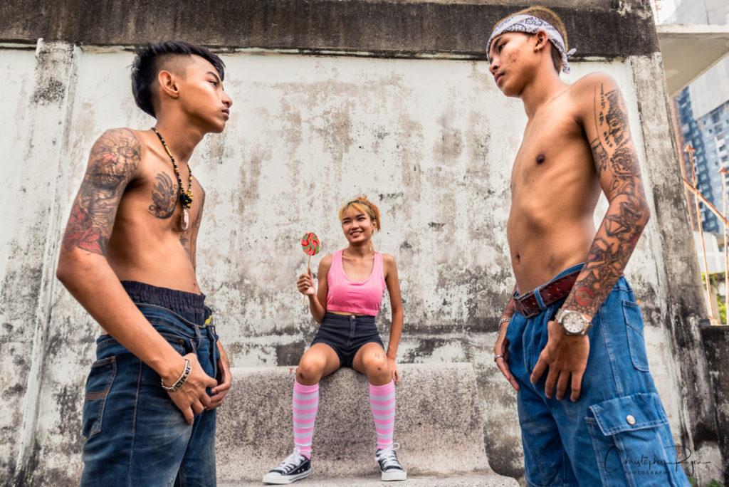 teen boys in bangkok thailand with tattoos