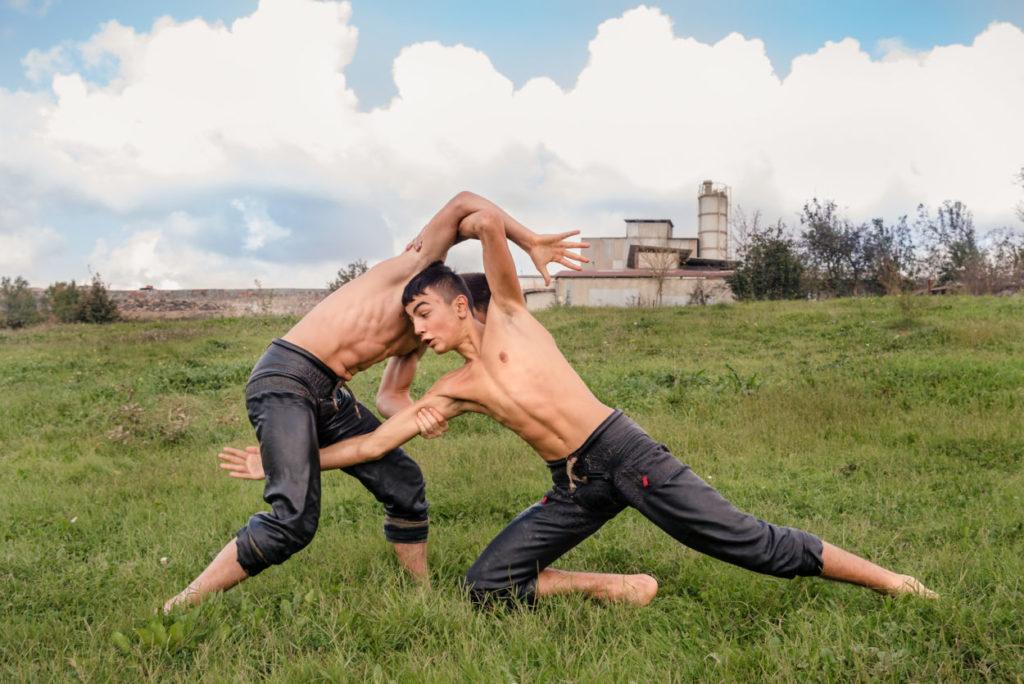 Turkish oil wrestling (Yağlı güreş) teen boys